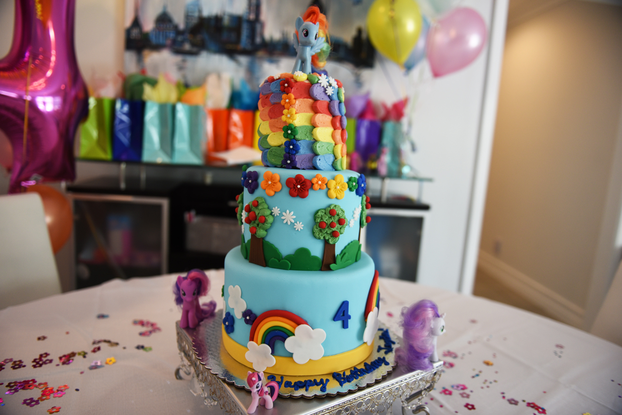 my little pony rainbow dash cake desserts by dominique